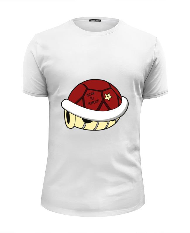 Футболка Wearcraft Premium Slim Fit Printio Панцерь черепахи (марио) lapel single breasted slim fit casual blazer