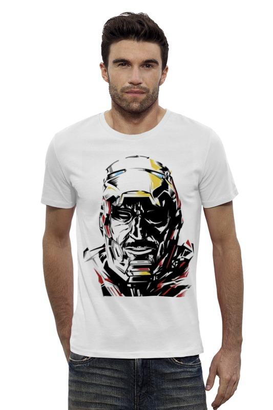 Футболка Wearcraft Premium Slim Fit Printio Железный человек эймис л пошаговый метод рисования ли эймиса разнообразные объекты пейзажи натюрморты человек без одежды человек в одежде портрет