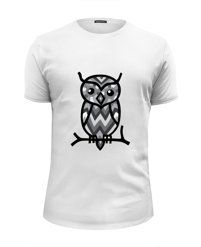 Футболка Wearcraft Premium Slim Fit Printio Сова (owl) футболка wearcraft premium slim fit printio skull and owl