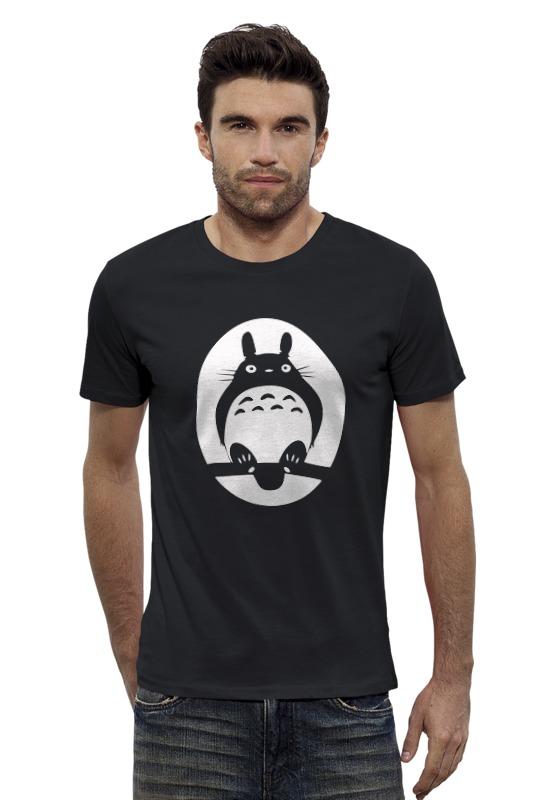 Футболка Wearcraft Premium Slim Fit Printio Totoro (тоторо) толстовка wearcraft premium унисекс printio мой сосед тоторо my neighbor totoro