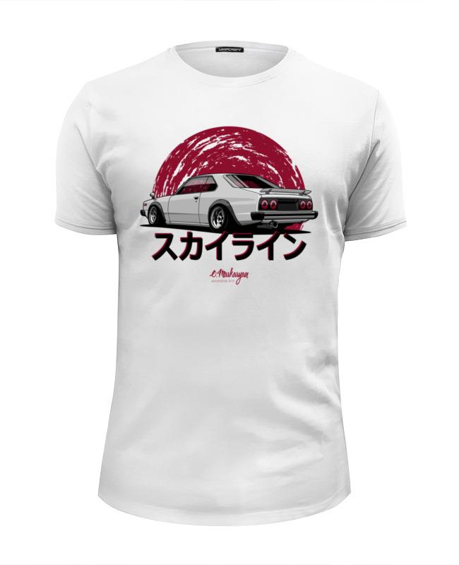 Футболка Wearcraft Premium Slim Fit Printio Nissan skyline c210