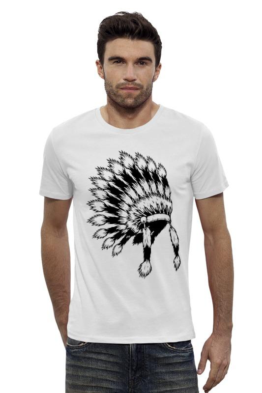 Футболка Wearcraft Premium Slim Fit Printio Индеец футболка wearcraft premium slim fit printio черно белый шут