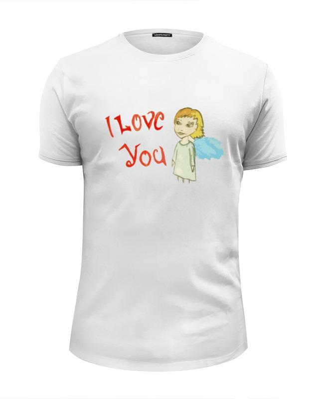 Футболка Wearcraft Premium Slim Fit Printio I love you футболка wearcraft premium slim fit printio i love ny