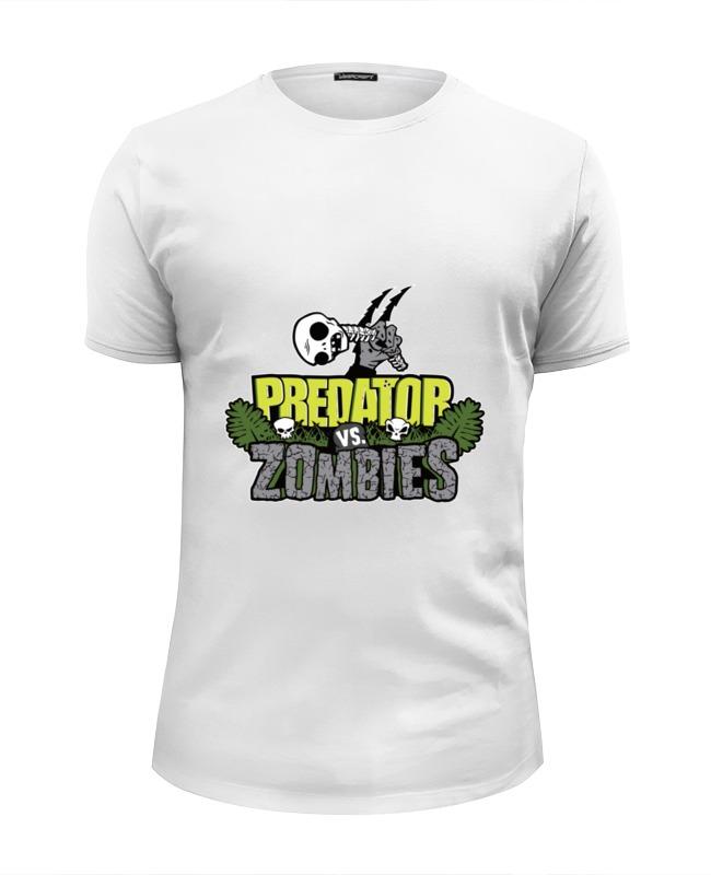 Футболка Wearcraft Premium Slim Fit Printio Хищник против зомби
