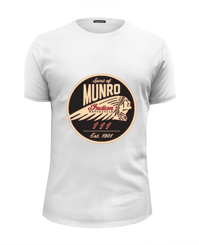 Футболка Wearcraft Premium Slim Fit Printio The spirit of munro. indian munro neil the daft days