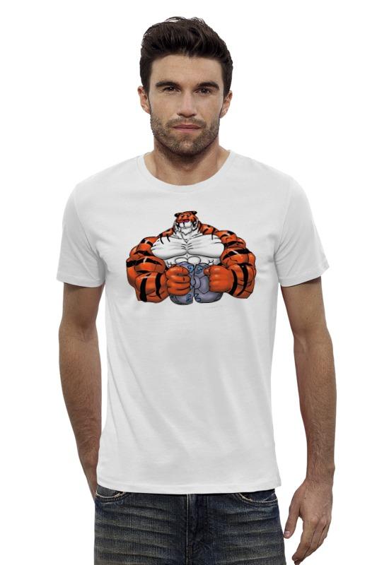 Футболка Wearcraft Premium Slim Fit Printio Тигр культурист win 179 хот шот бол сереб символ года тигр 800191