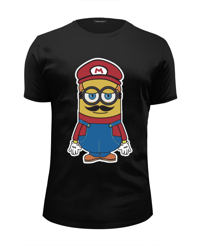 Футболка Wearcraft Premium Slim Fit Printio Minion mario