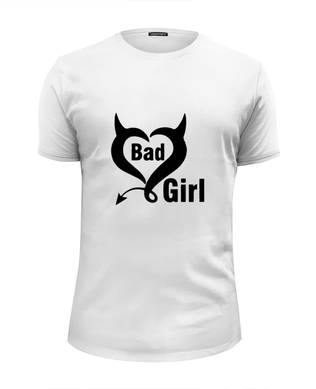 Футболка Wearcraft Premium Slim Fit Printio Bad girl (плохая девченка) футболка wearcraft premium slim fit printio face girl