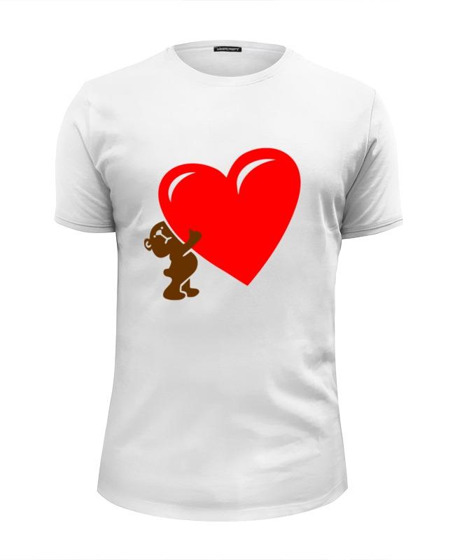 Футболка Wearcraft Premium Slim Fit Printio Bear heart футболка wearcraft premium slim fit printio bear arms