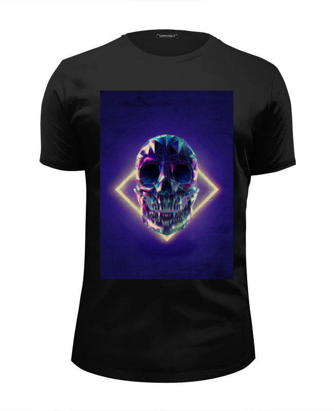 Футболка Wearcraft Premium Slim Fit Printio Low poly skull футболка классическая printio low poly skull