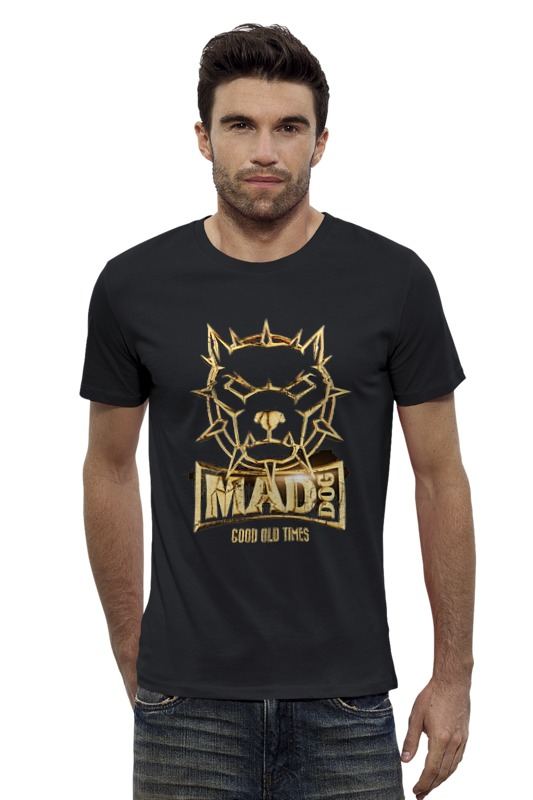 Футболка Wearcraft Premium Slim Fit Printio Mad dog gold футболка wearcraft premium slim fit printio gta 5 dog