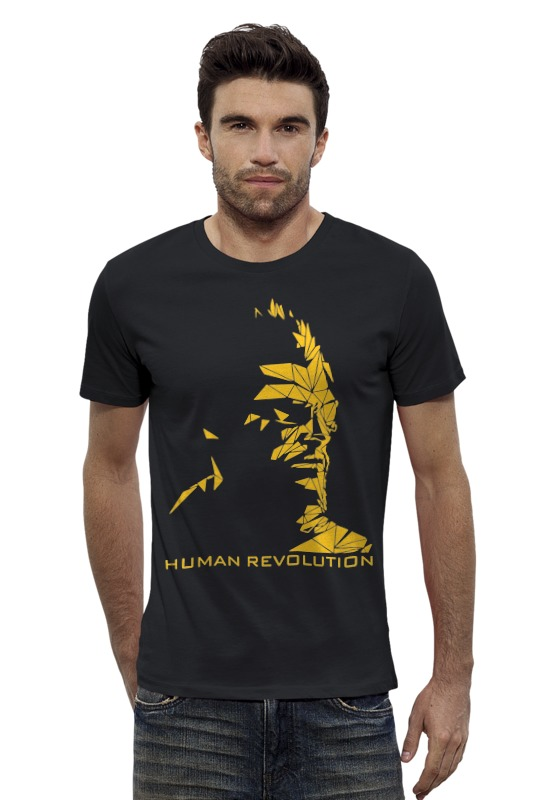 Футболка Wearcraft Premium Slim Fit Printio Human revolution (deus ex) deus ex human revolution ultimate edition [mac] цифровая версия