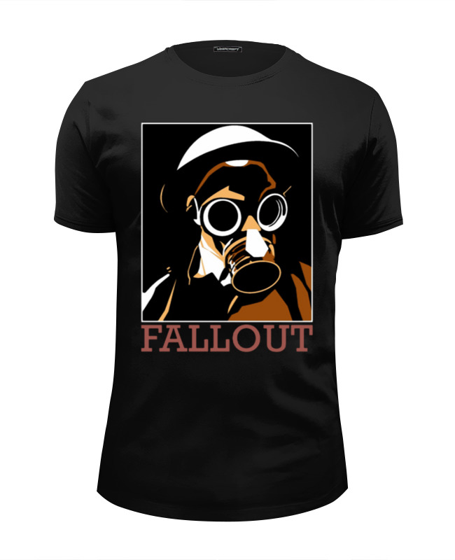 Футболка Wearcraft Premium Slim Fit Printio Fallout game футболка wearcraft premium slim fit printio mr handy fallout
