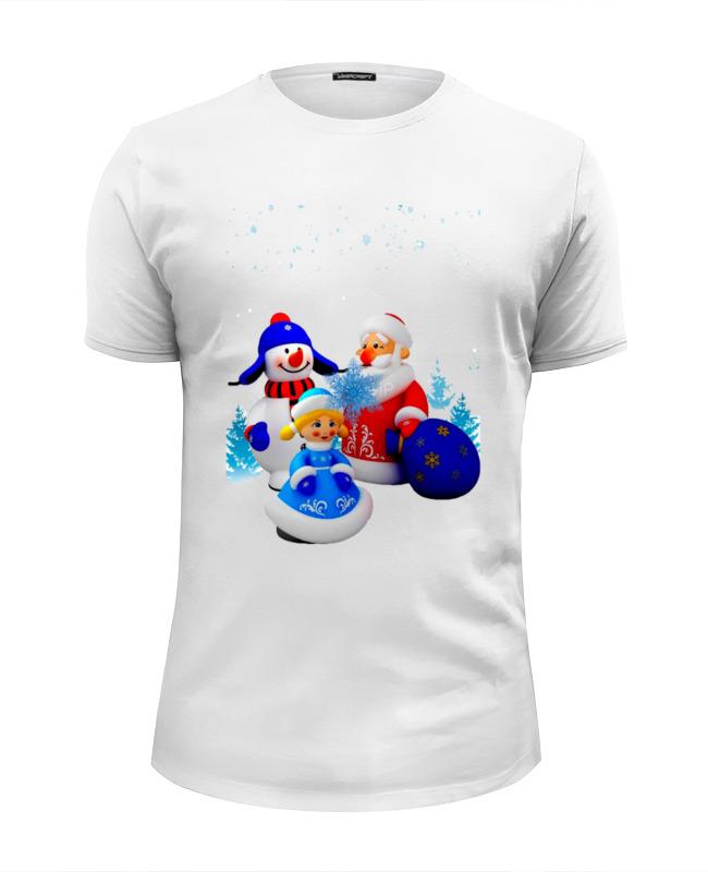 Printio Дед мороз.снегурочка.новый год.снеговик. футболка print bar дед легенда рыбалки