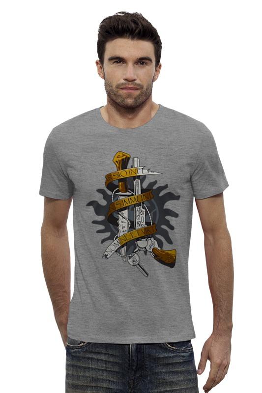 Футболка Wearcraft Premium Slim Fit Printio Оружие винчестеров (сверхестественное) футболка wearcraft premium slim fit printio винчестер supernatural
