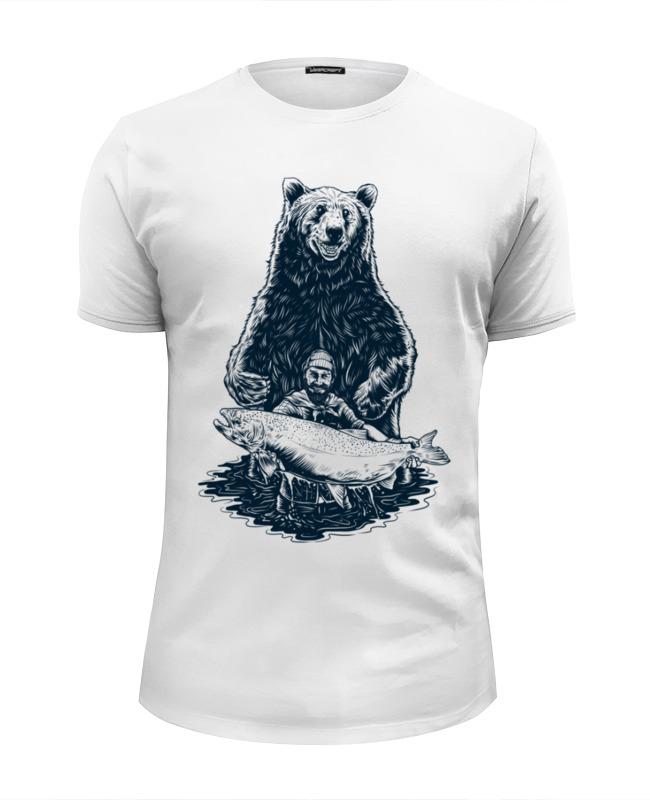 Футболка Wearcraft Premium Slim Fit Printio Медвежья рыбалка цена и фото