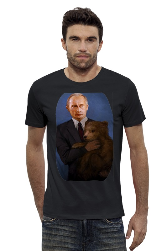 Футболка Wearcraft Premium Slim Fit Printio Putin