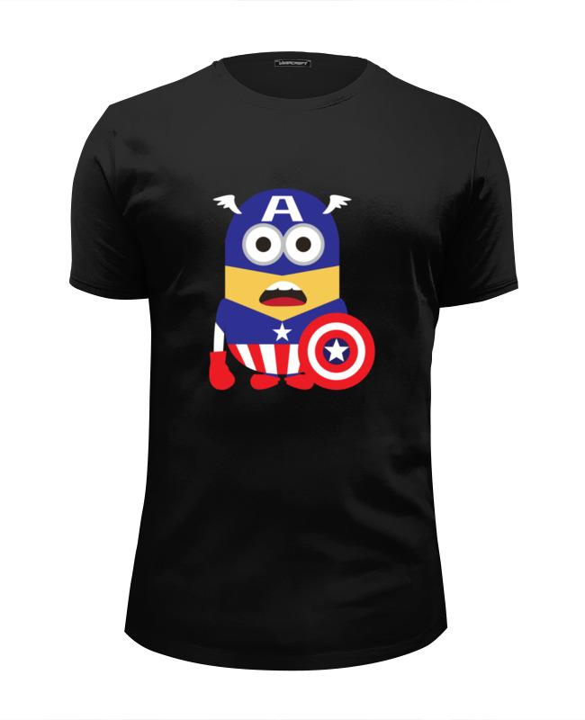 Футболка Wearcraft Premium Slim Fit Printio Капитан миньон футболка wearcraft premium slim fit printio викинг миньон