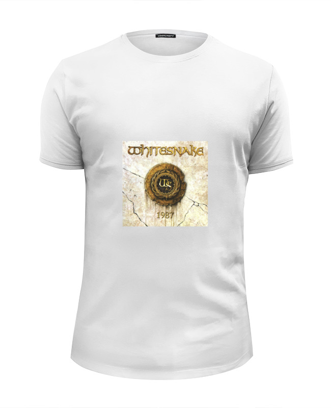 Футболка Wearcraft Premium Slim Fit Printio Whitesnake
