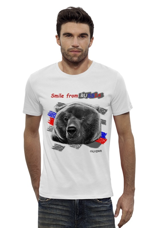 Футболка Wearcraft Premium Slim Fit Printio Smile frome russia поло print bar 9й доктор