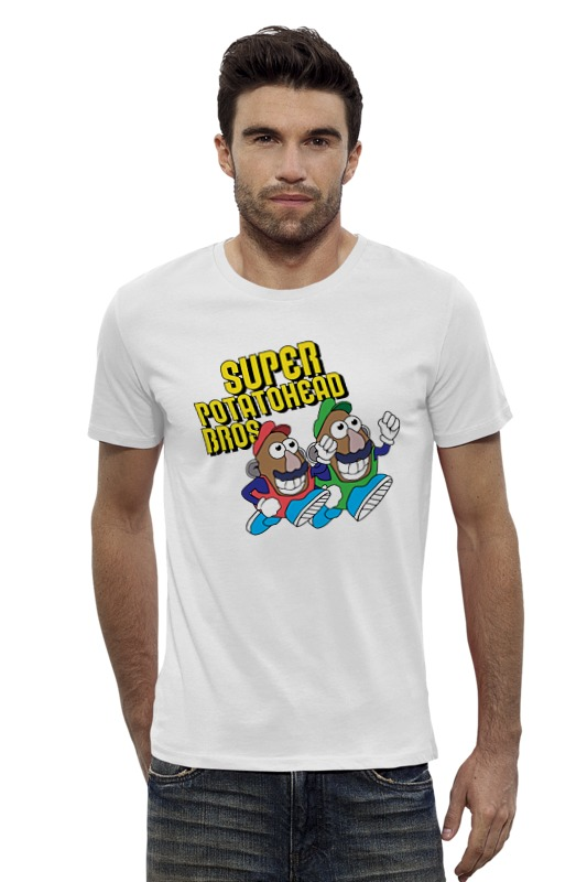 Футболка Wearcraft Premium Slim Fit Printio Super mario bros