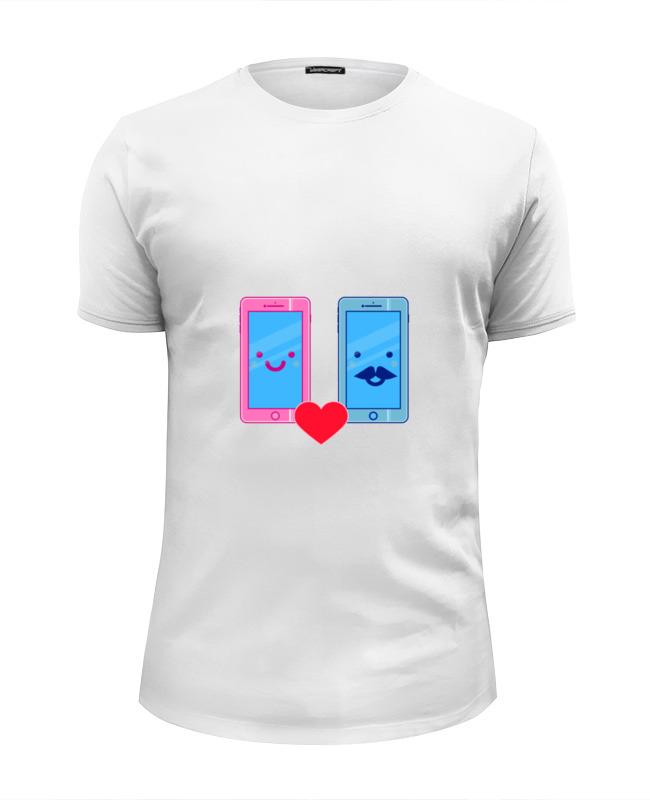 Футболка Wearcraft Premium Slim Fit Printio Телефоны влюблены