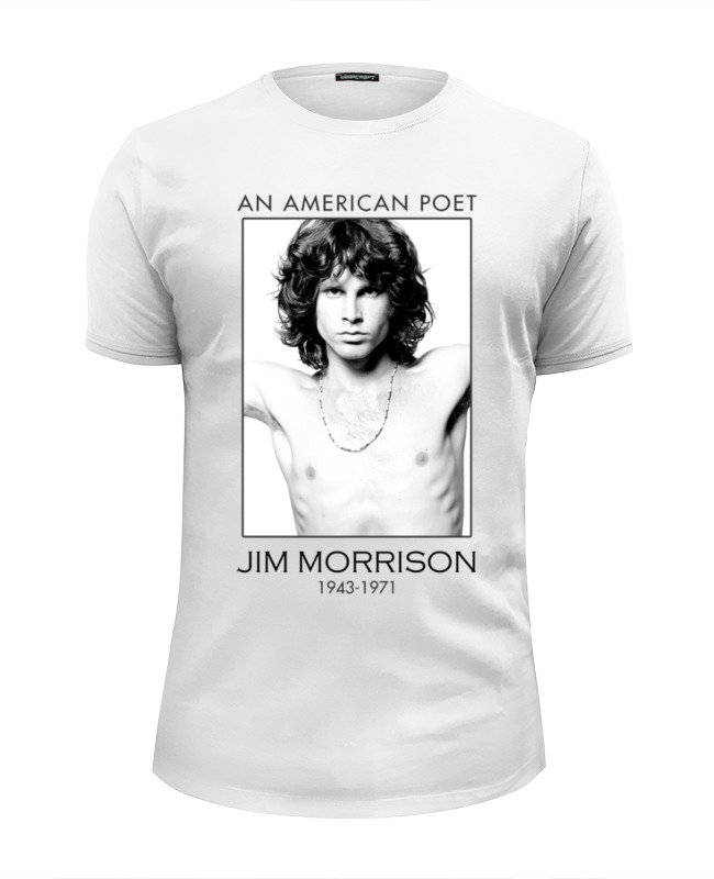 Футболка Wearcraft Premium Slim Fit Printio Джим моррисон джеймс моррисон james morrison the awakening