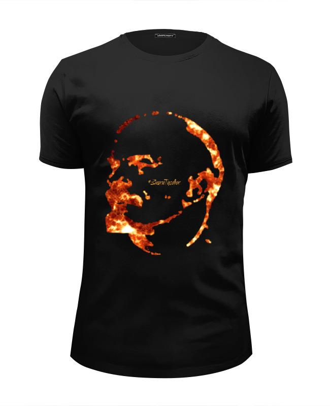 Футболка Wearcraft Premium Slim Fit Printio Пламенный ленин футболка wearcraft premium slim fit printio ленин
