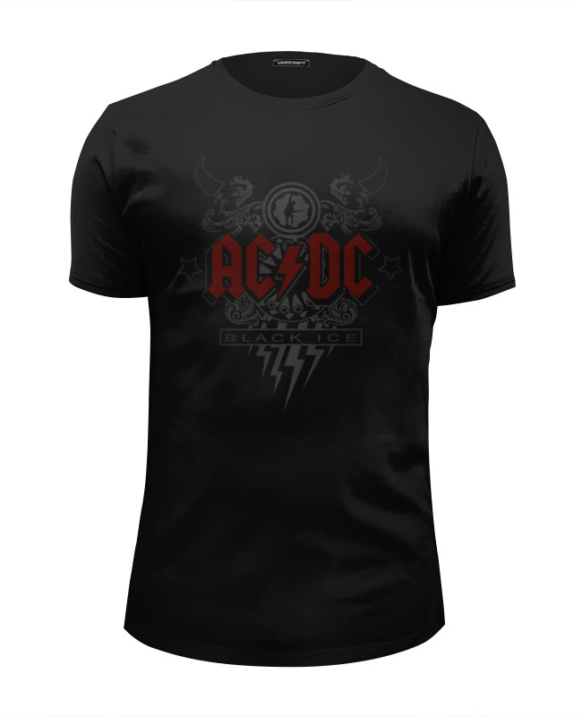 Футболка Wearcraft Premium Slim Fit Printio Ac/dc. black ice футболка классическая printio ac dc black ice