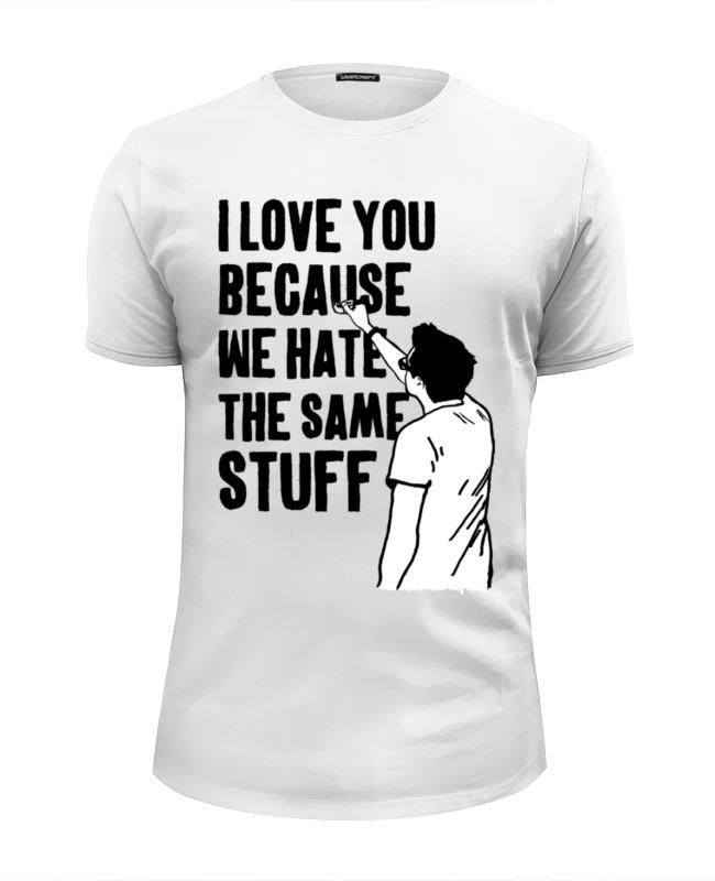 Фото - Футболка Wearcraft Premium Slim Fit Printio Я люблю тебя футболка wearcraft premium slim fit printio я всё могу потому что я мама