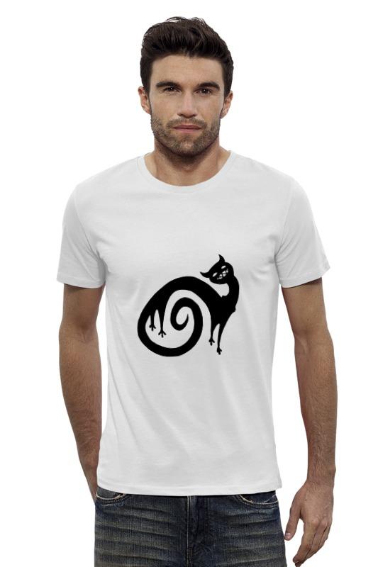 Футболка Wearcraft Premium Slim Fit Printio Черный кот футболка wearcraft premium slim fit printio кот и кошка