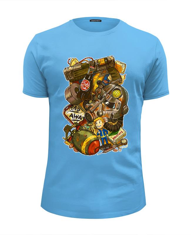 Футболка Wearcraft Premium Slim Fit Printio Fallout design футболка wearcraft premium slim fit printio tattoo design