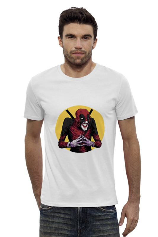 Футболка Wearcraft Premium Slim Fit Printio Deadpool joker футболка wearcraft premium slim fit printio joker