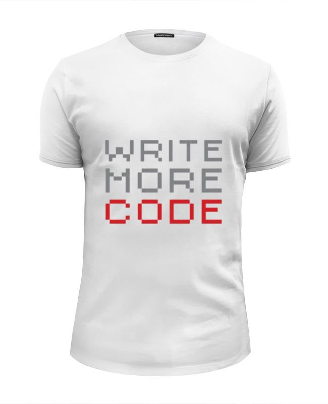 Футболка Wearcraft Premium Slim Fit Printio Пиши больше кода