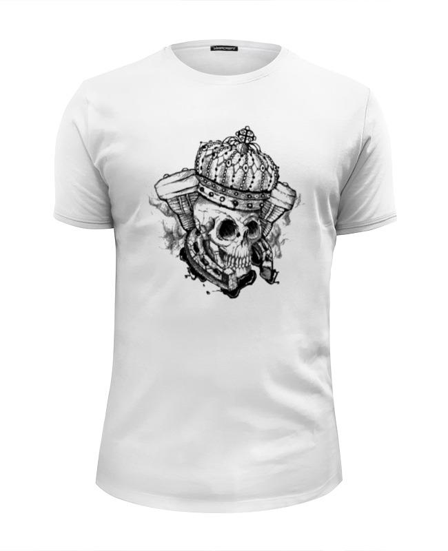 Футболка Wearcraft Premium Slim Fit Printio Skull_crown style