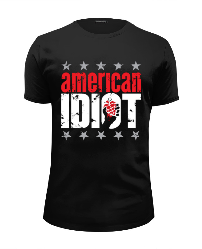 Футболка Wearcraft Premium Slim Fit Printio Green day american idiot