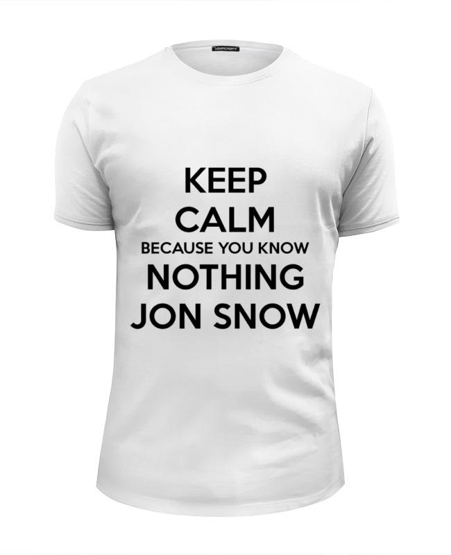 Футболка Wearcraft Premium Slim Fit Printio Jon snow цена и фото