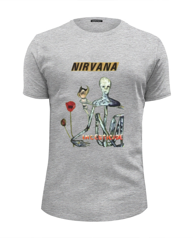 Футболка Wearcraft Premium Slim Fit Printio Nirvana incesticide album t-shirt