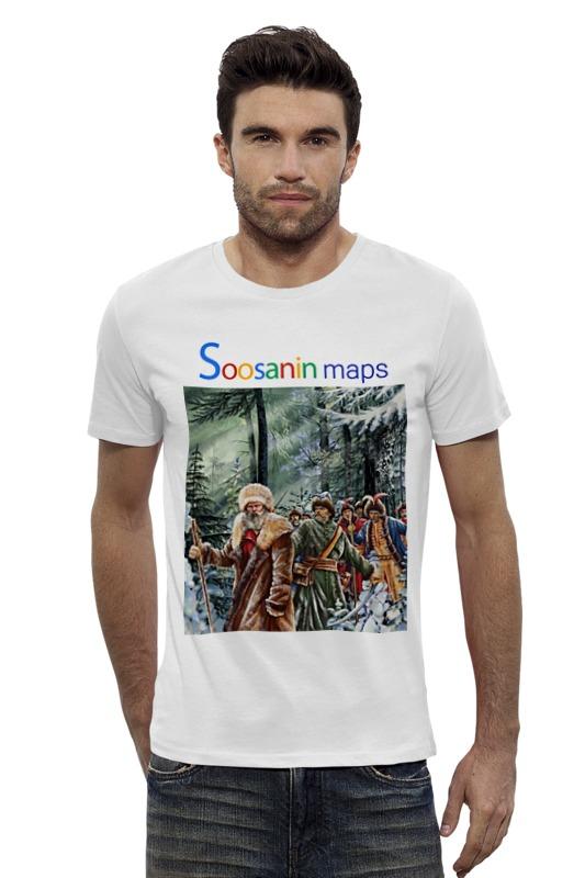 Футболка Wearcraft Premium Slim Fit Printio Soosanin maps by hearts of russia футболка wearcraft premium slim fit printio россия russia