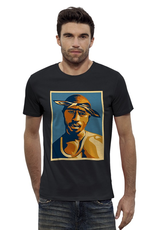 Футболка Wearcraft Premium Slim Fit Printio Тупак шакур (2pac) лонгслив printio 2pac tupac