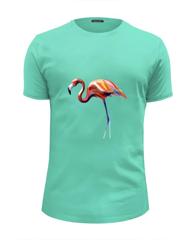 Футболка Wearcraft Premium Slim Fit Printio Розовый фламинго футболка wearcraft premium printio фламинго