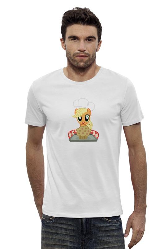 Футболка Wearcraft Premium Slim Fit Printio My little pony: applejack с кексиком футболка wearcraft premium slim fit printio my little pony герб applejack эпплджек