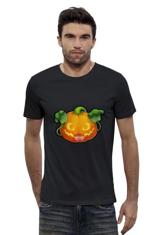Футболка Wearcraft Premium Slim Fit Printio Pumpkin поиск семена тыква марсельеза