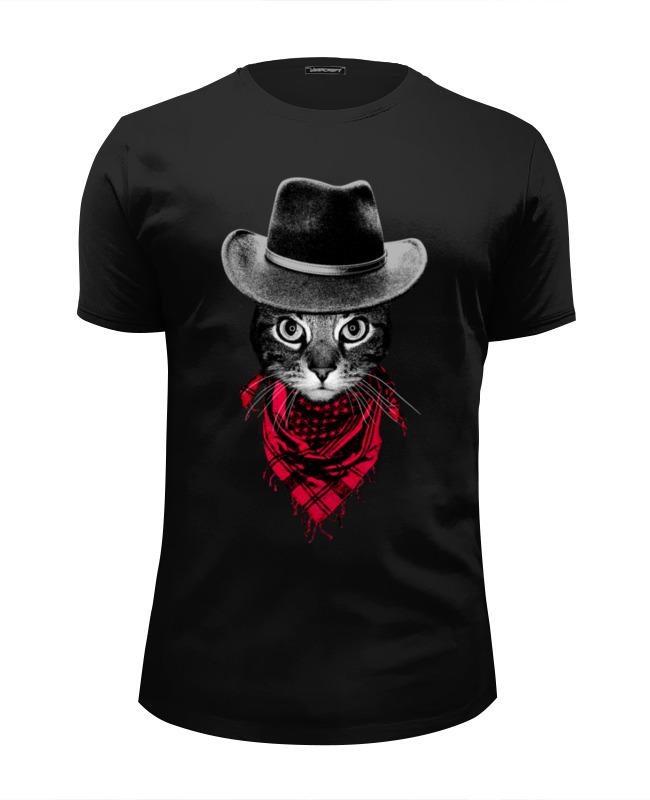 Футболка Wearcraft Premium Slim Fit Printio Кот ковбой футболка wearcraft premium slim fit printio кот суши