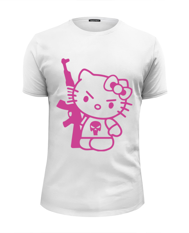 Футболка Wearcraft Premium Slim Fit Printio Hello kitty ak-47