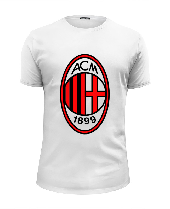 Футболка Wearcraft Premium Slim Fit Printio Ac milan ac milan frosinone calcio