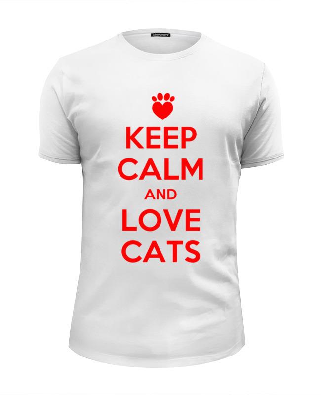 Printio Люблю котов футболка wearcraft premium slim fit printio меньше людей больше котов