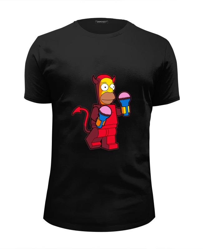 Футболка Wearcraft Premium Slim Fit Printio Гомер дьявол футболка wearcraft premium slim fit printio тасманский дьявол