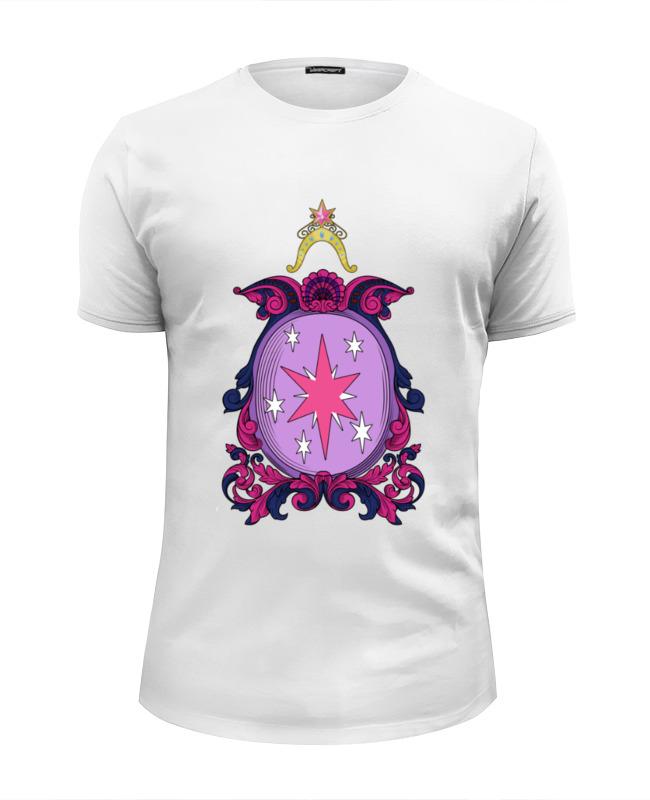 Футболка Wearcraft Premium Slim Fit Printio My little pony - герб twilight sparkle (искорка) цена