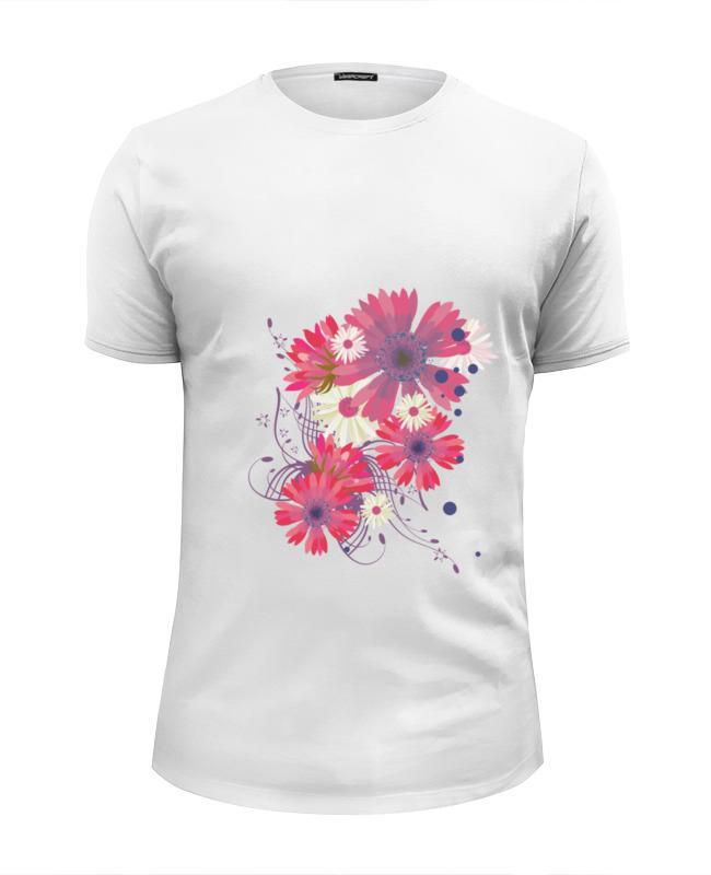 Футболка Wearcraft Premium Slim Fit Printio Flowers футболка wearcraft premium slim fit printio look at the flowers
